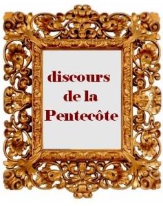 discours de la pentecôte